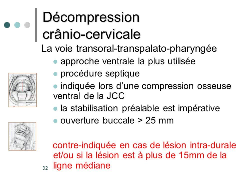 Décompression crânio-cervicale