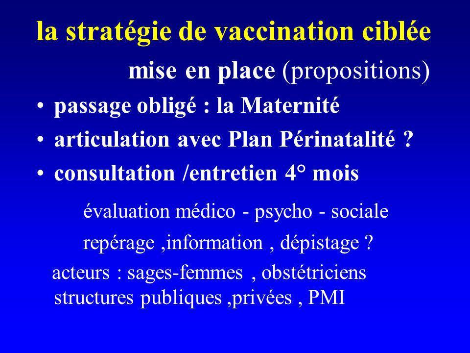 la stratégie de vaccination ciblée