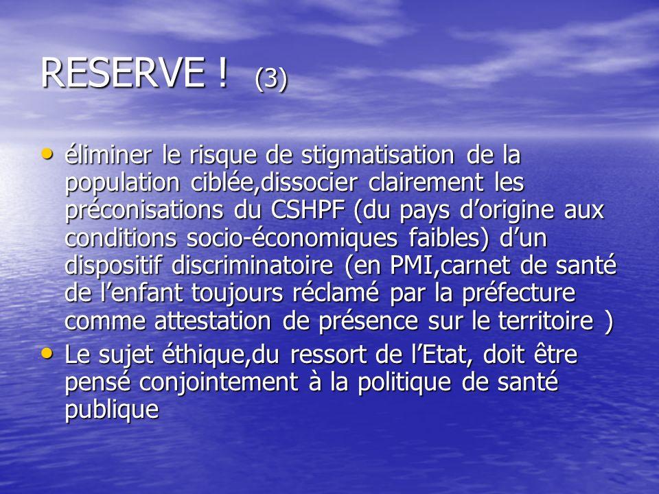 RESERVE ! (3)
