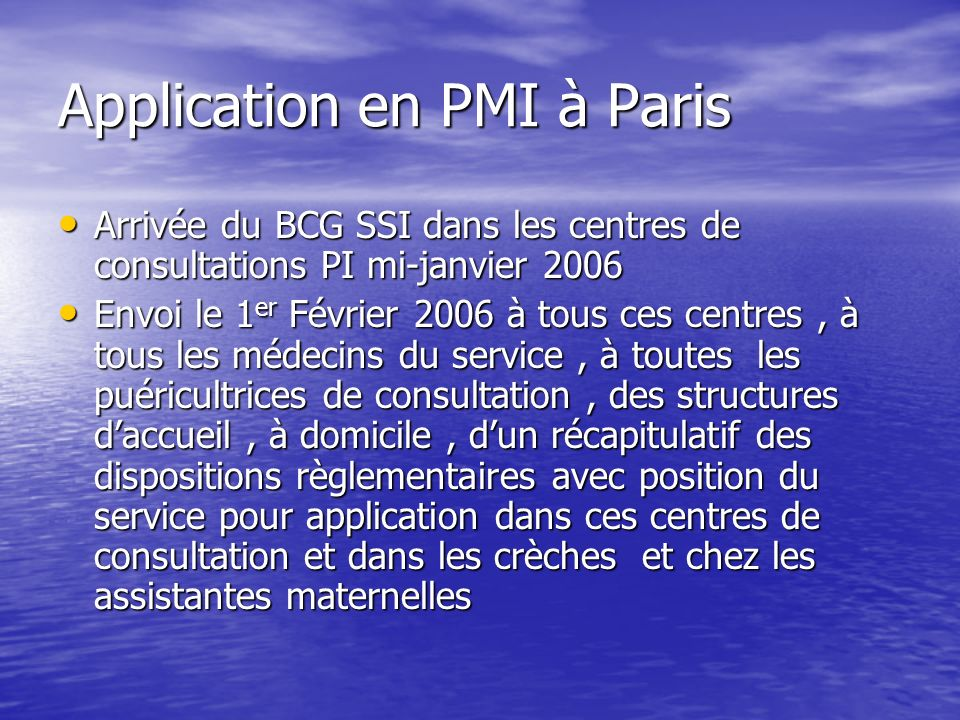 Application en PMI à Paris