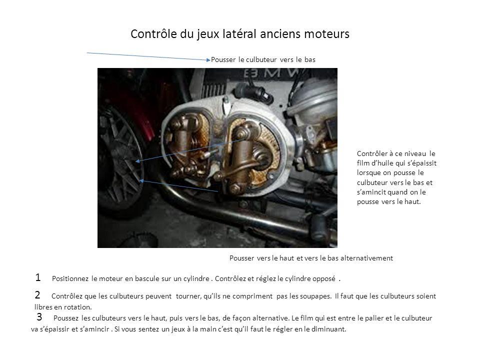 Contrôle du jeux latéral anciens moteurs
