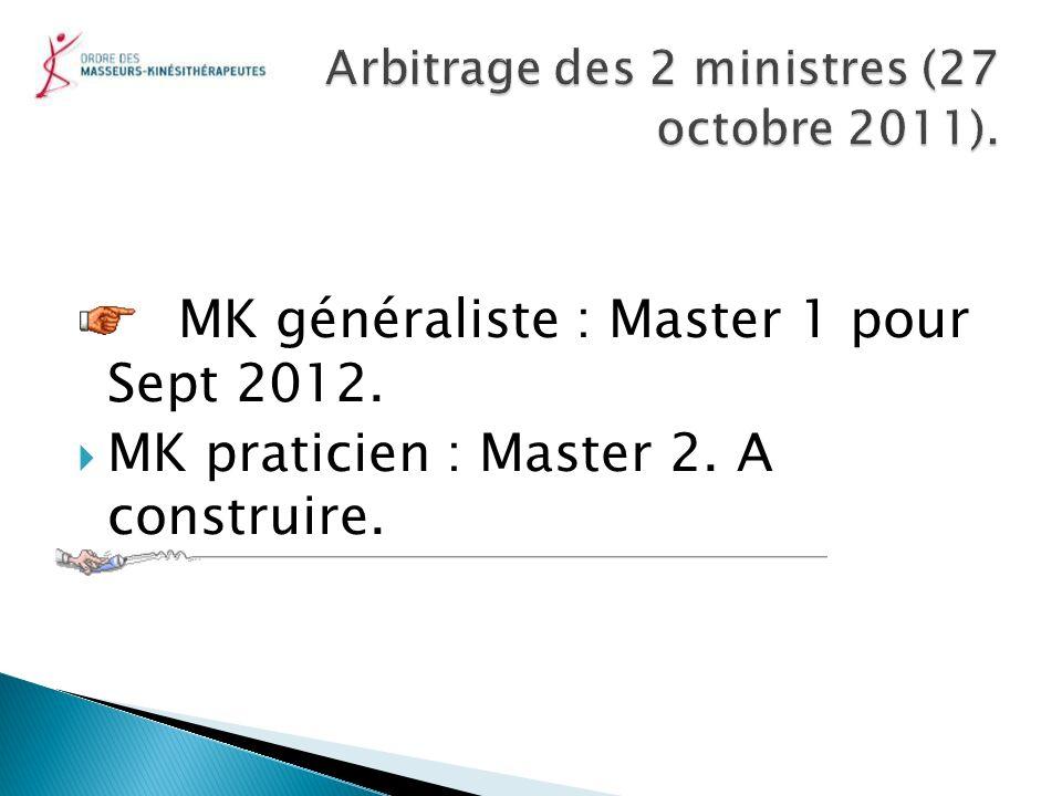 Arbitrage des 2 ministres (27 octobre 2011).