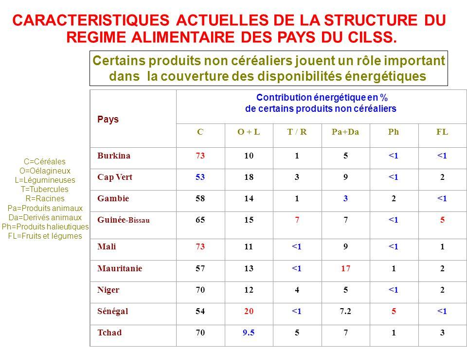 CARACTERISTIQUES ACTUELLES DE LA STRUCTURE DU