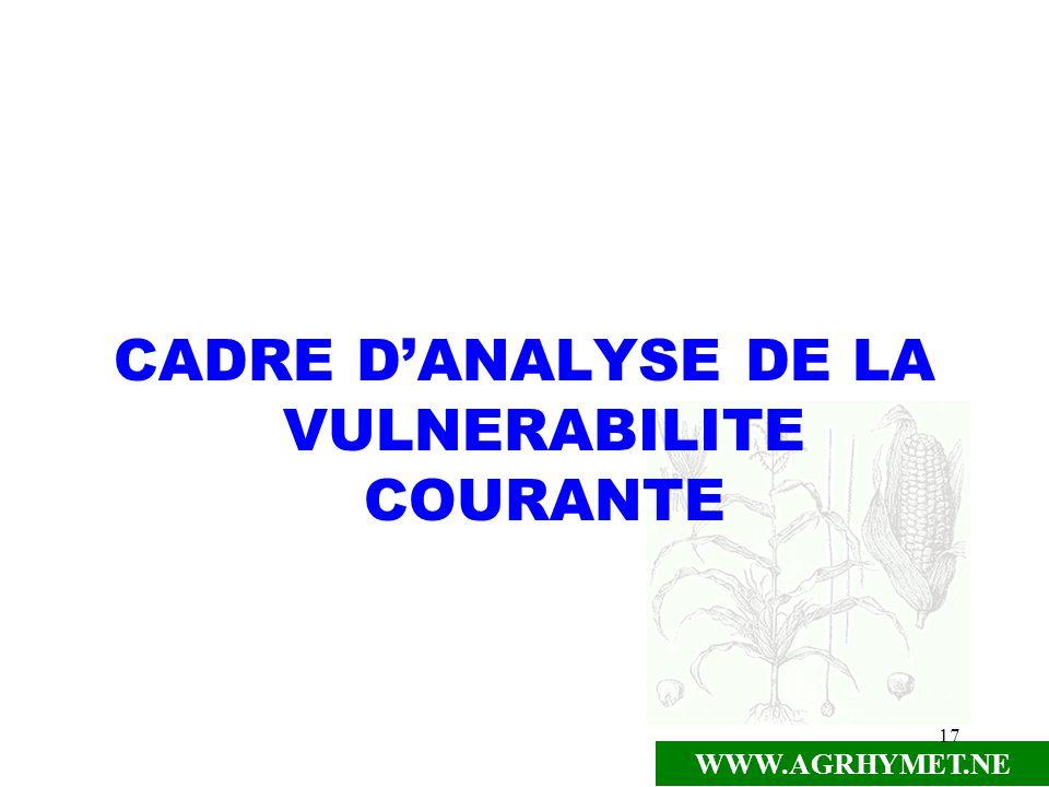 CADRE D'ANALYSE DE LA VULNERABILITE COURANTE