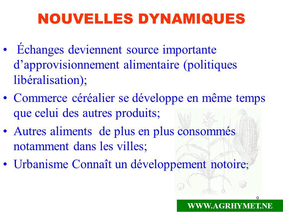 NOUVELLES DYNAMIQUES Échanges deviennent source importante d'approvisionnement alimentaire (politiques libéralisation);