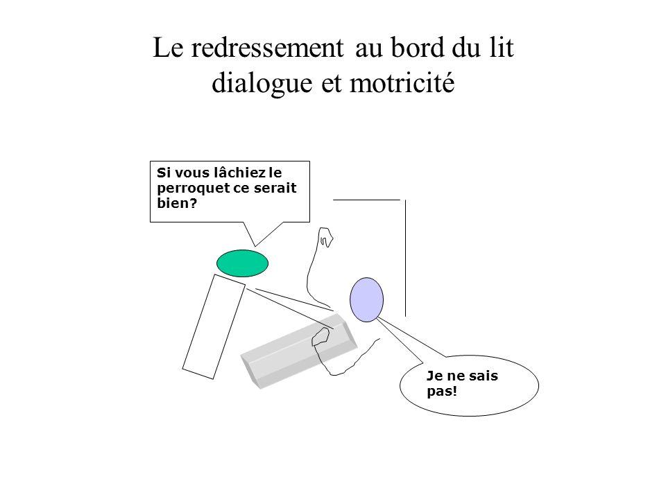 Le redressement au bord du lit dialogue et motricité