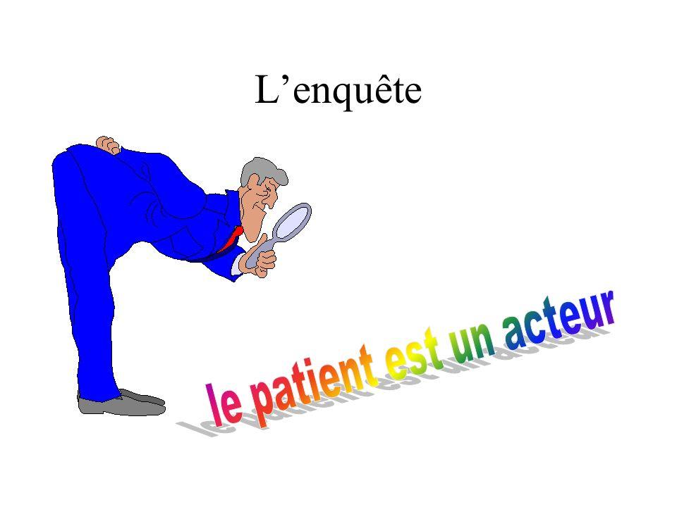 L'enquête le patient est un acteur le patient est un acteur