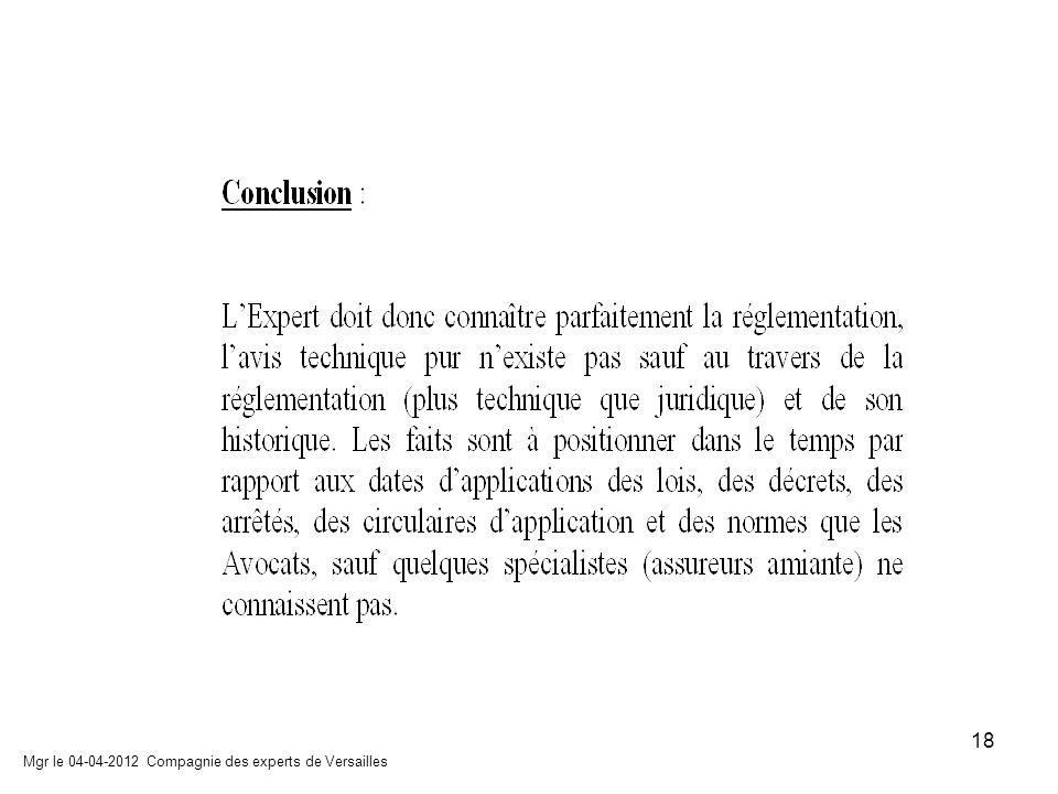 Mgr le 04-04-2012 Compagnie des experts de Versailles