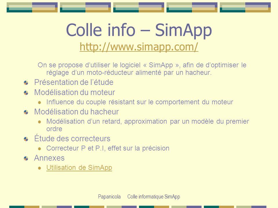 Colle info – SimApp http://www.simapp.com/