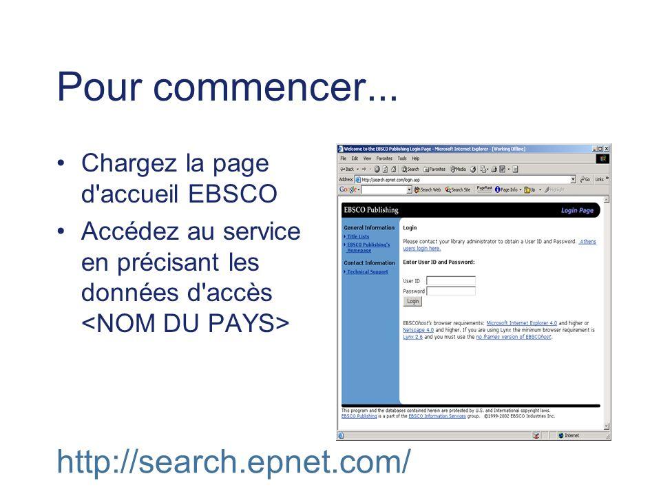 Pour commencer... http://search.epnet.com/