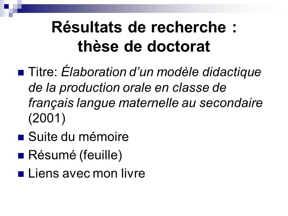 Résultats de recherche : thèse de doctorat