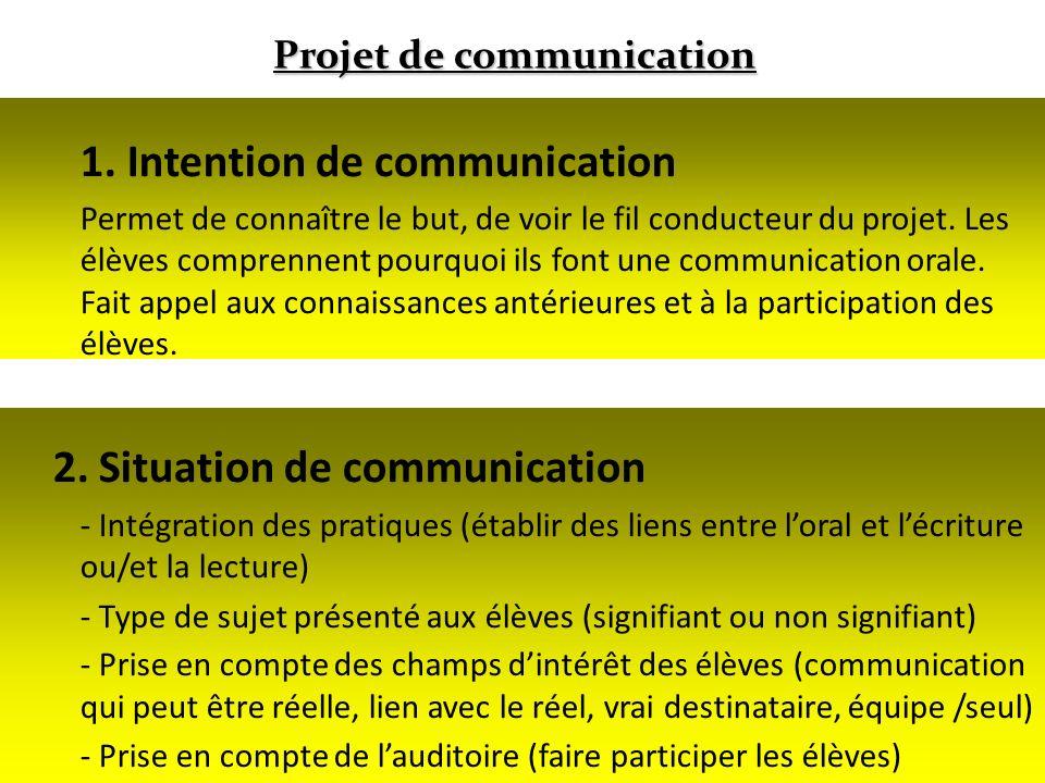 Projet de communication