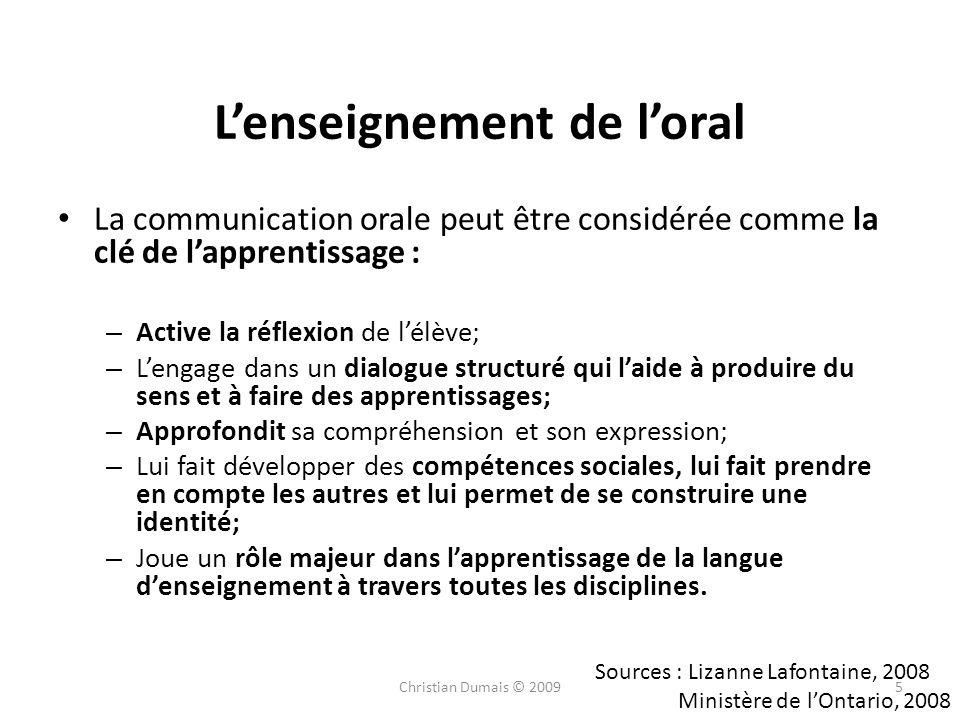 L'enseignement de l'oral