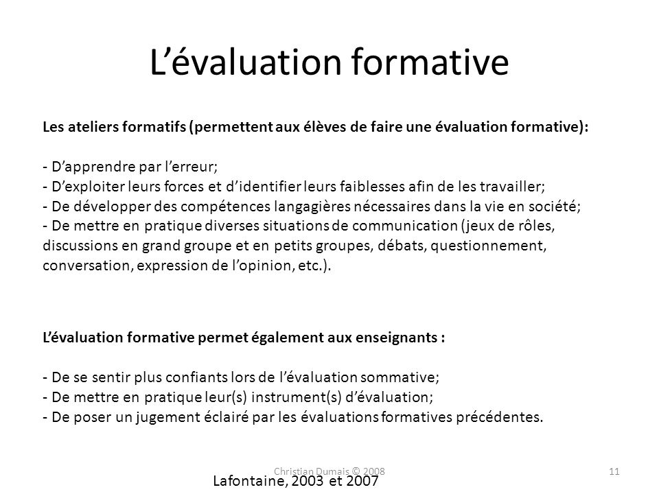 L'évaluation formative