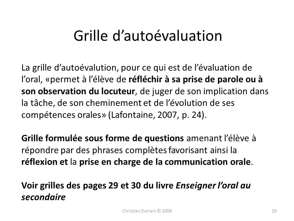 L valuation de l oral au primaire ppt video online - Grille d evaluation des competences infirmieres ...
