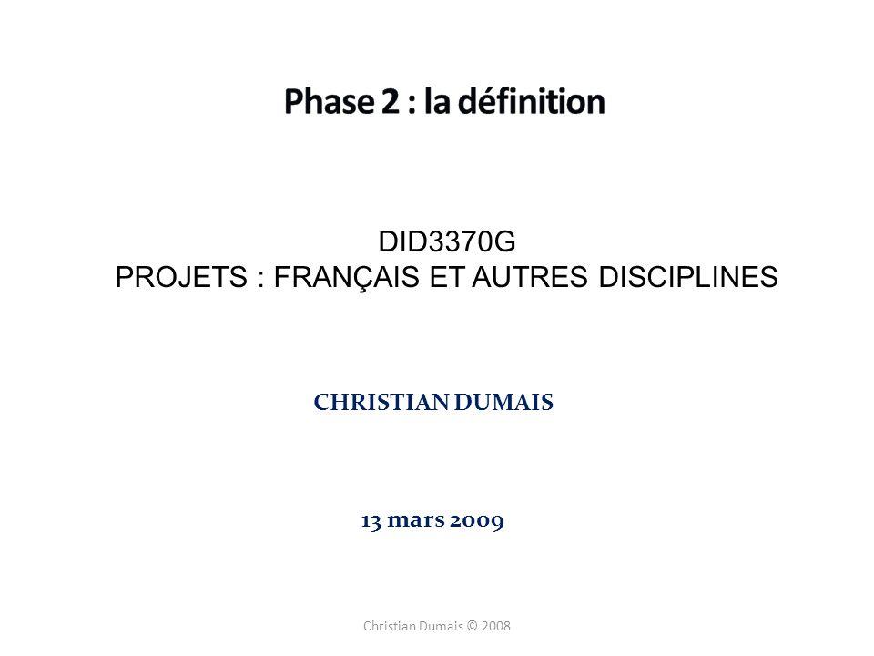 PROJETS : FRANÇAIS ET AUTRES DISCIPLINES