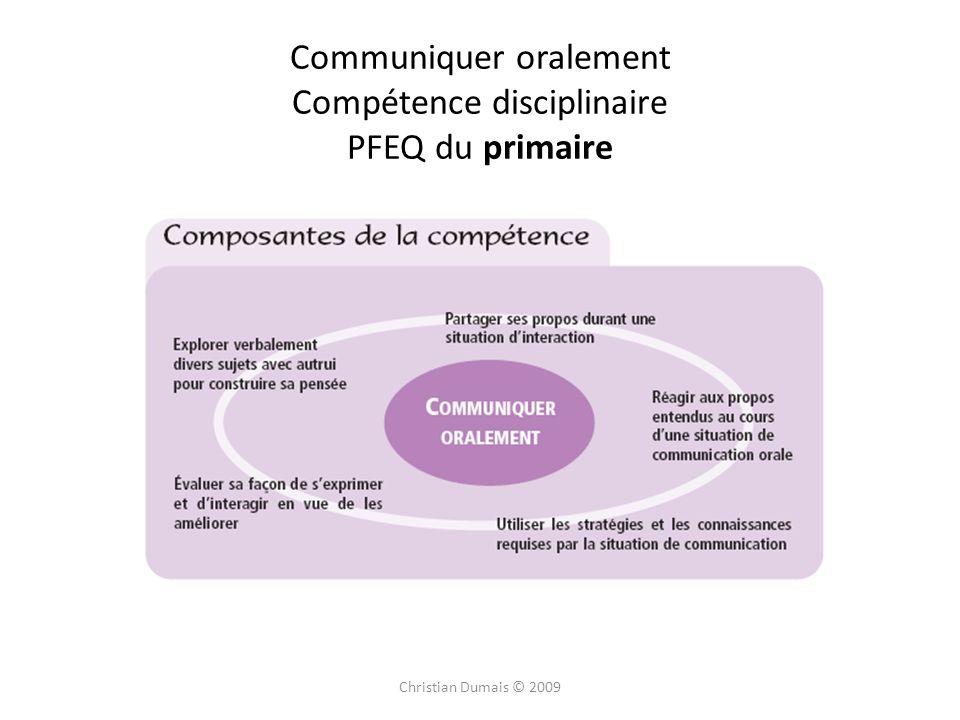 Communiquer oralement Compétence disciplinaire PFEQ du primaire