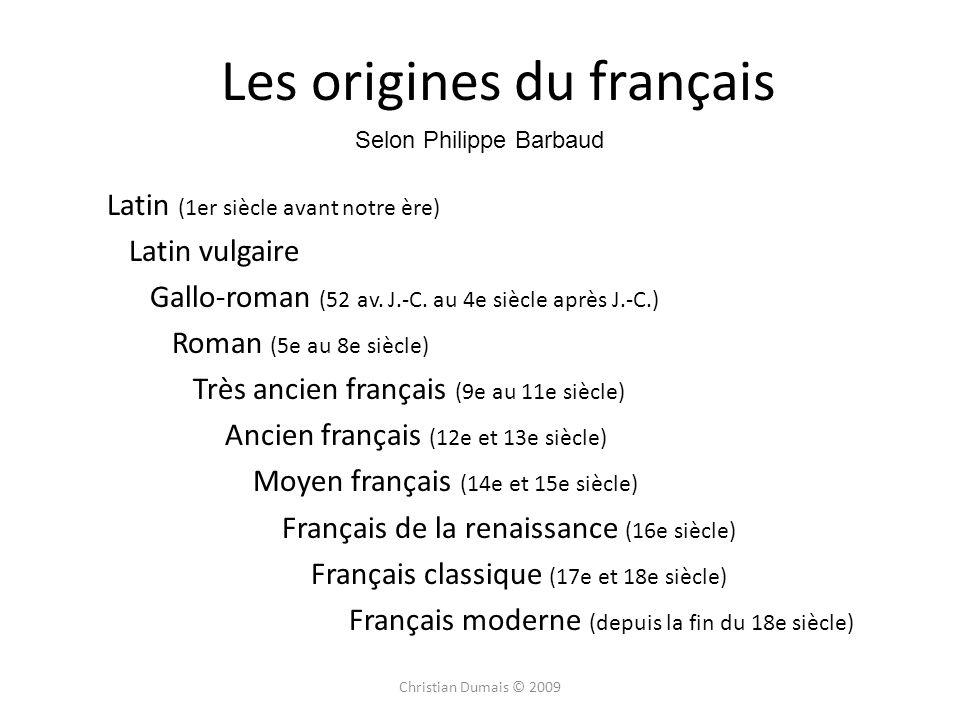 Les origines du français