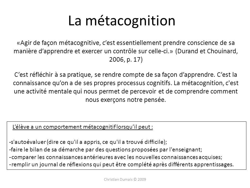 La métacognition