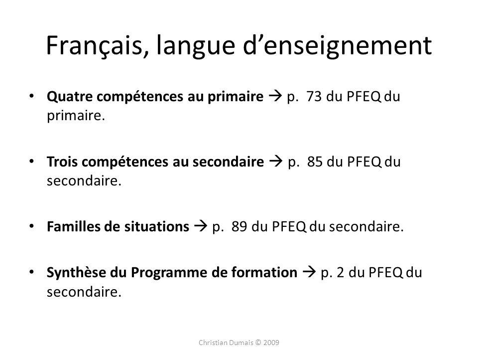 Français, langue d'enseignement