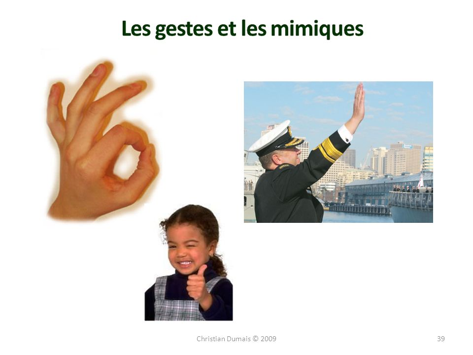 Les gestes et les mimiques