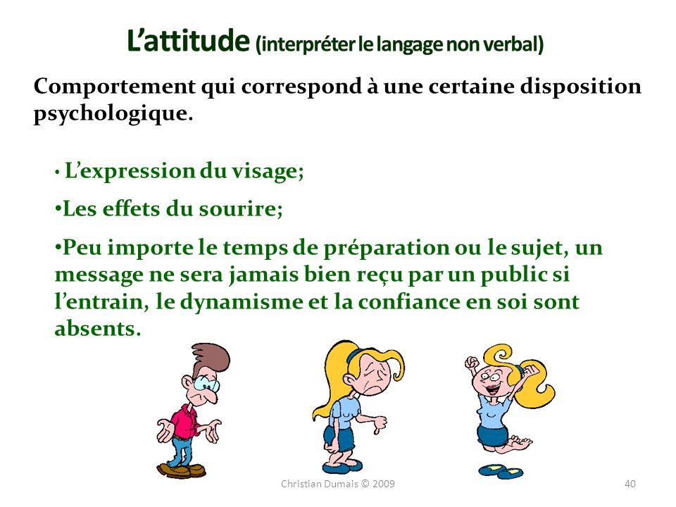 L'attitude (interpréter le langage non verbal)