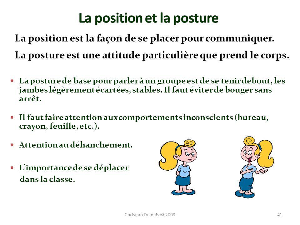 La position et la posture