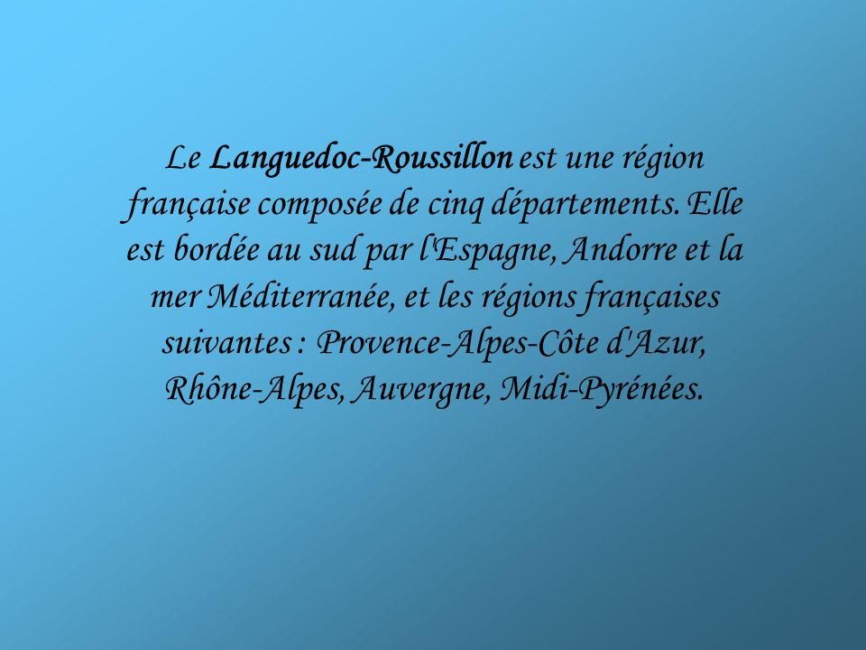 Le Languedoc-Roussillon est une région française composée de cinq départements.