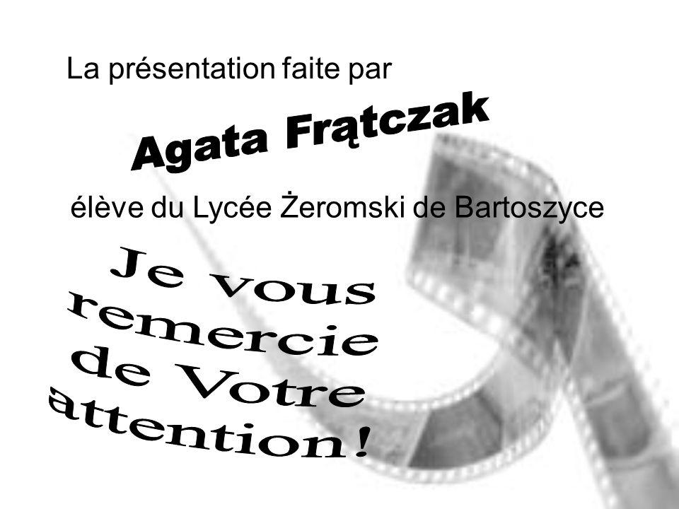 Agata Frątczak Je vous remercie de Votre attention!