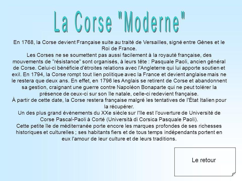 La Corse Moderne Le retour