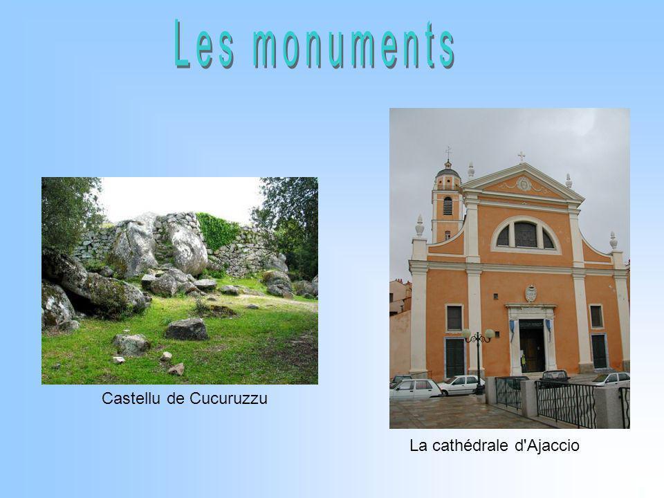 Les monuments Castellu de Cucuruzzu La cathédrale d Ajaccio