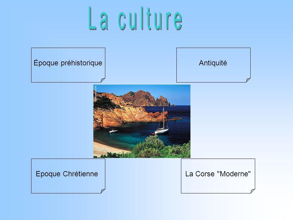 La culture Époque préhistorique Antiquité Epoque Chrétienne