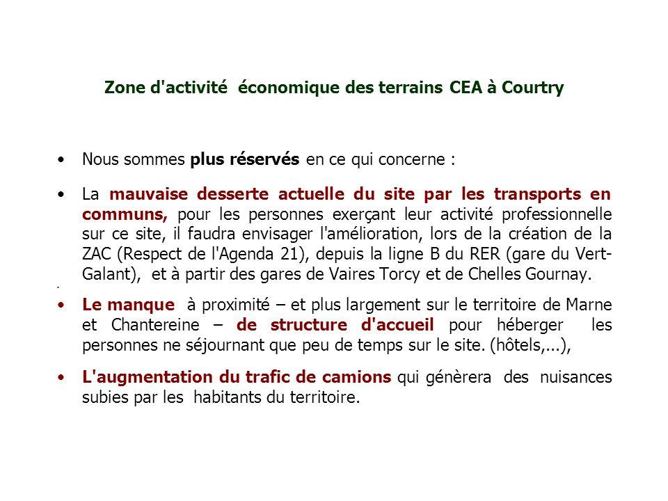 Zone d activité économique des terrains CEA à Courtry