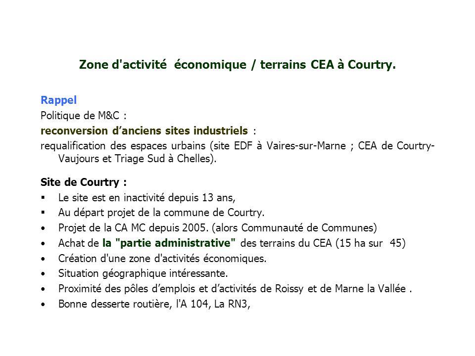 Zone d activité économique / terrains CEA à Courtry.