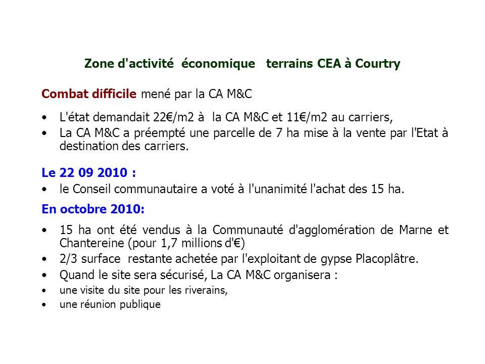 Zone d activité économique terrains CEA à Courtry