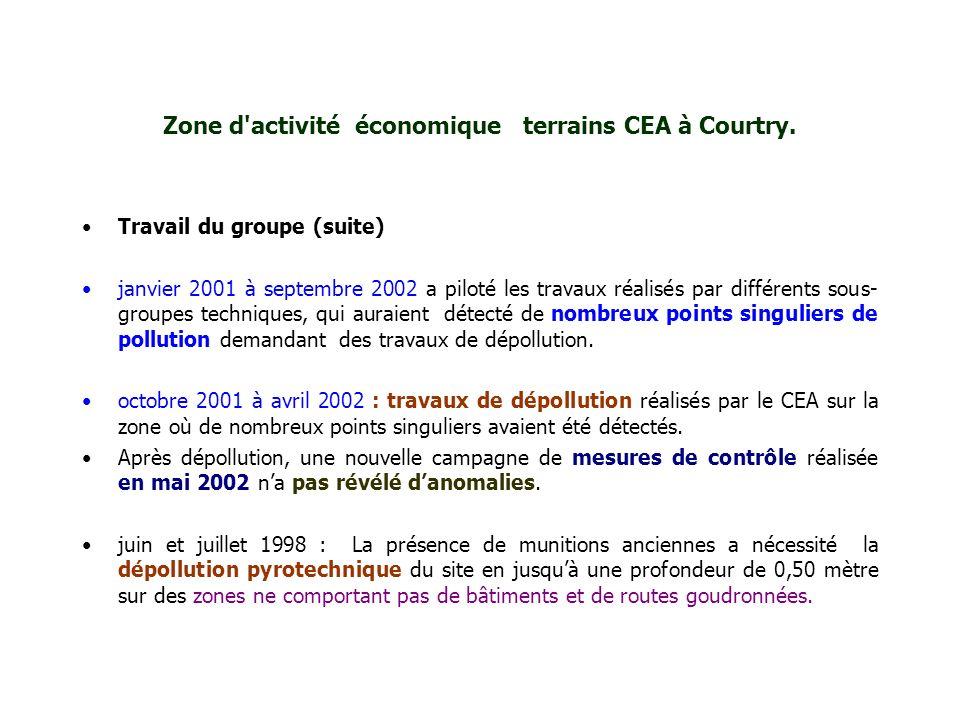 Zone d activité économique terrains CEA à Courtry.