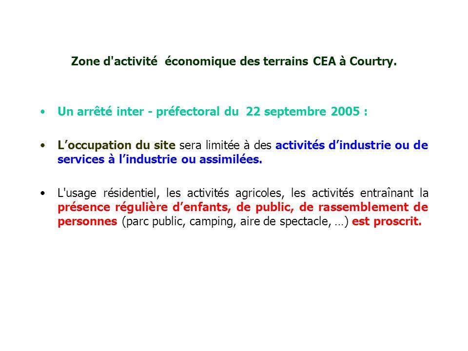 Zone d activité économique des terrains CEA à Courtry.