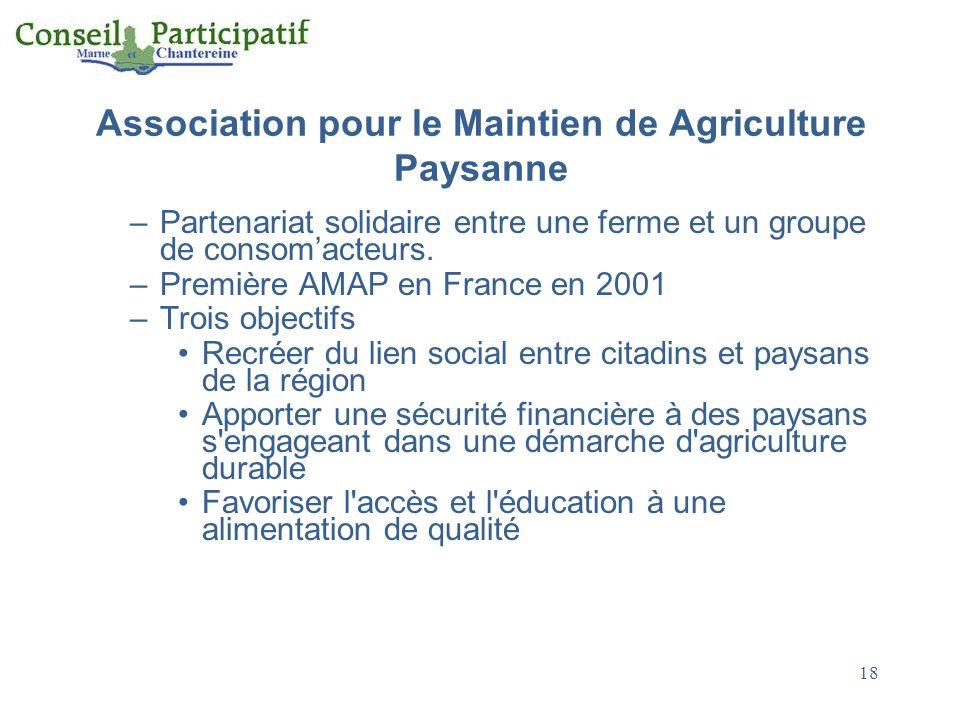 Association pour le Maintien de Agriculture Paysanne