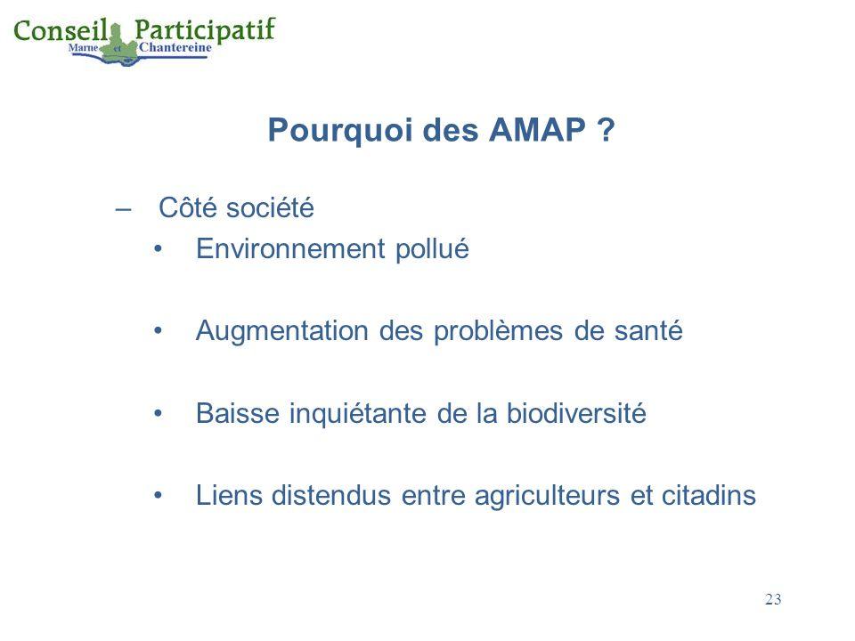 Pourquoi des AMAP Côté société Environnement pollué