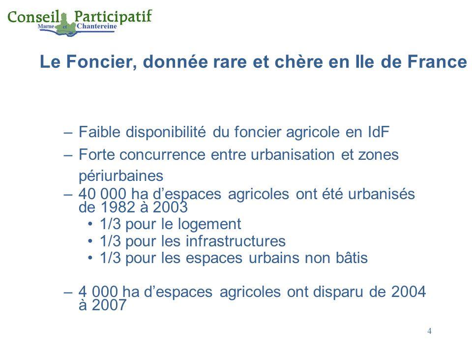 Le Foncier, donnée rare et chère en Ile de France