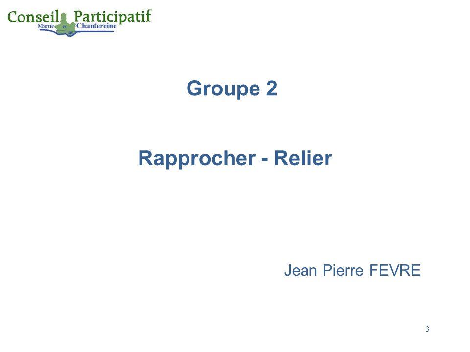 Rapprocher - Relier Jean Pierre FEVRE