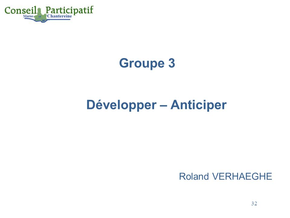 Développer – Anticiper Roland VERHAEGHE