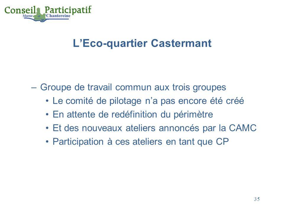 L'Eco-quartier Castermant