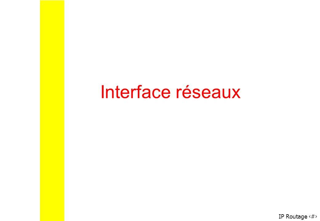 Interface réseaux Configuration via ifconfig
