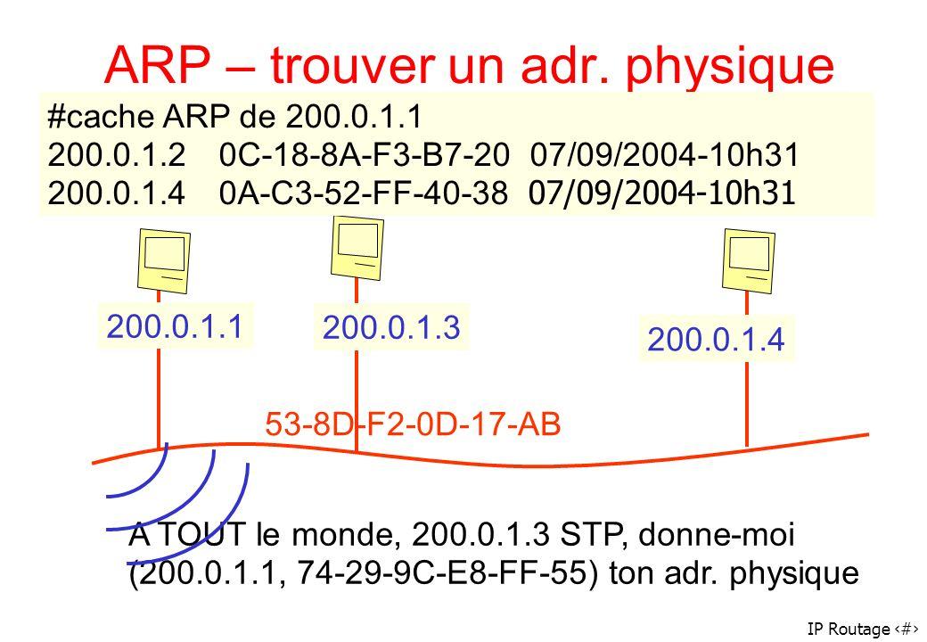 ARP – trouver un adr. physique