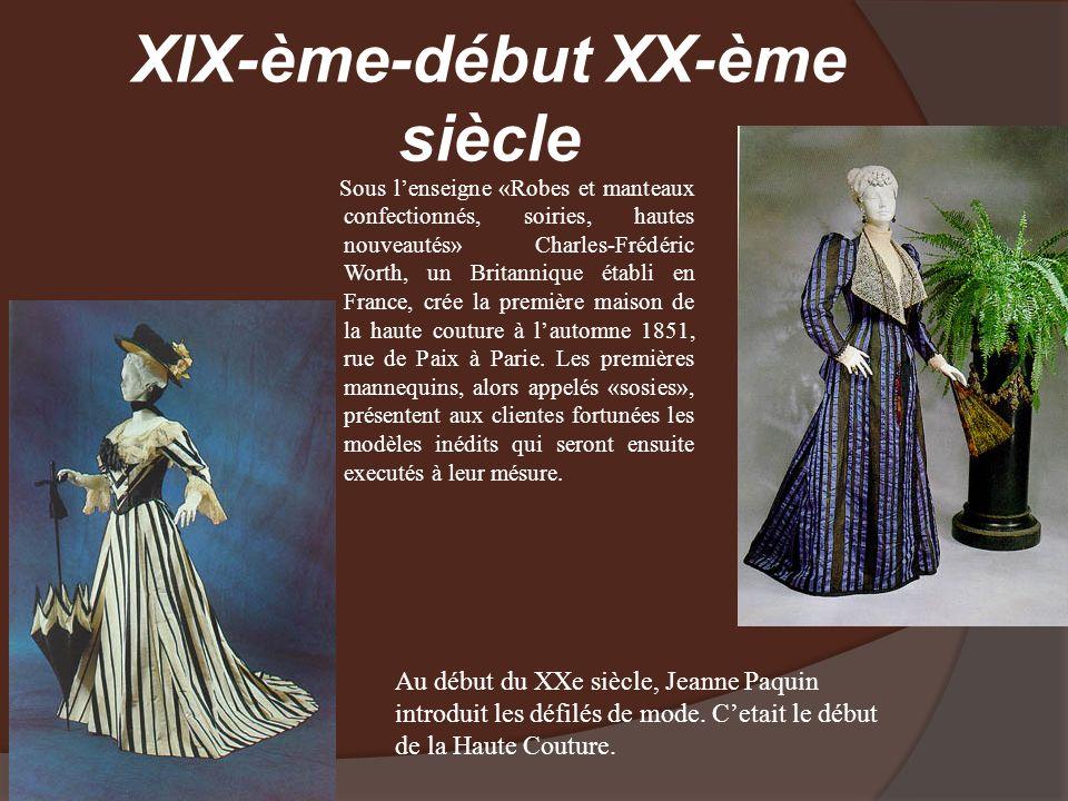 XIX-ème-début XX-ème siècle