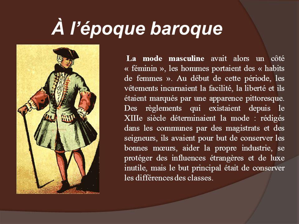 À l'époque baroque