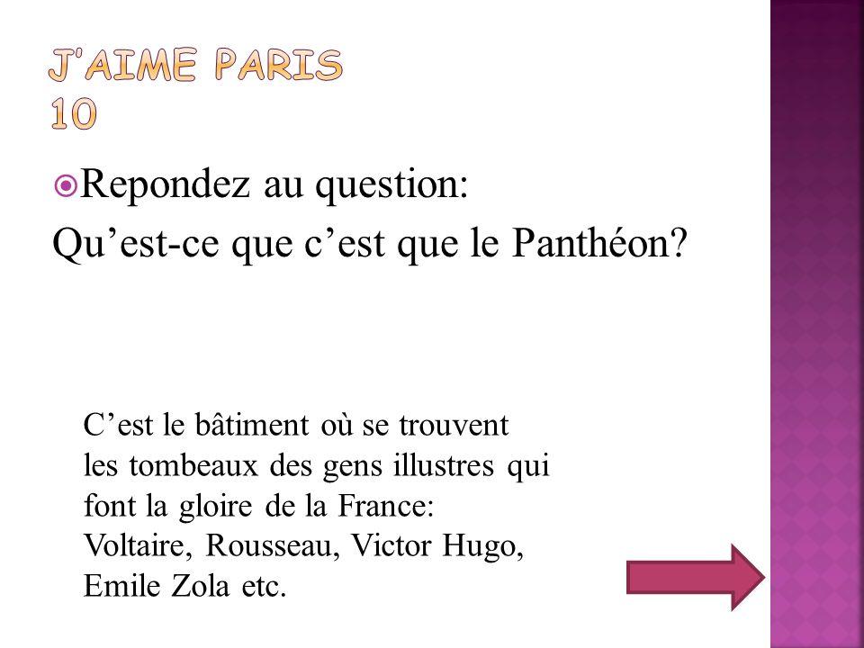 Qu'est-ce que c'est que le Panthéon