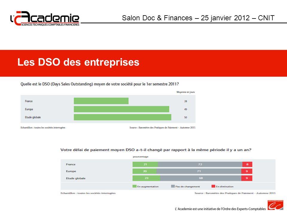 Les DSO des entreprises