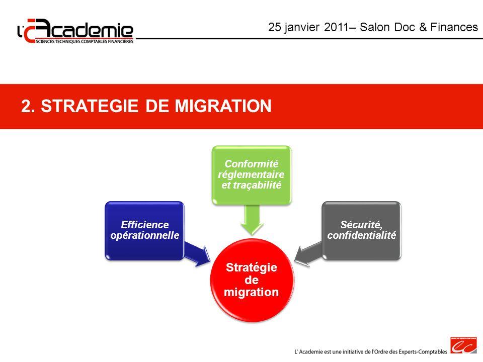 2. STRATEGIE DE MIGRATION